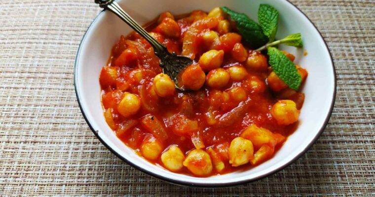 Garbanzos con tomate o chana masala