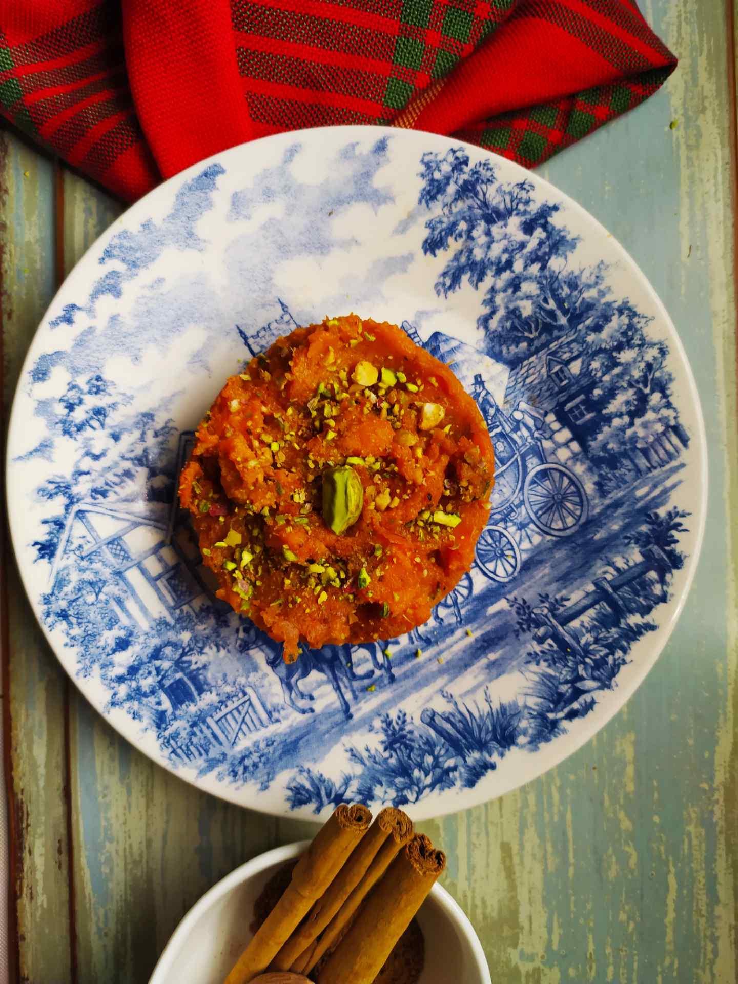 Puré de batata vegano con especias