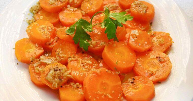 Zanahorias aliñadas a la moruna