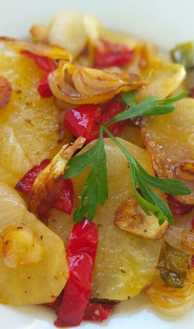 Patatas a lo pobre receta de la abuela